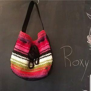 Roxy Bags - Roxy Crochet Knit Rainbow Boho Hippie Purse
